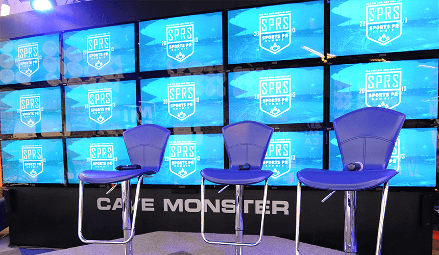 SPRS Digital Screen on the MLB Fan Cave 'Cave Monster'